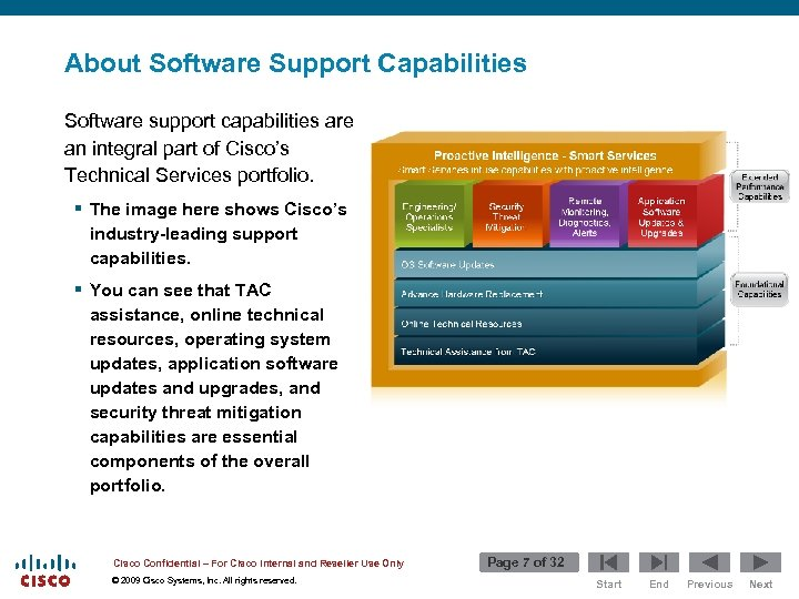 About Software Support Capabilities Software support capabilities are an integral part of Cisco's Technical