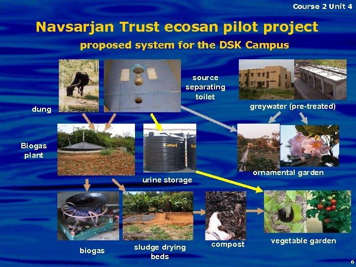 Course 2 Unit 4 Navsarjan Trust ecosan pilot project dung http: //www. alisontoon. co