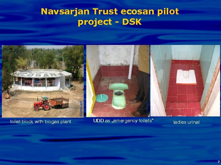 toilet block with biogas plant source: esf Navsarjan Trust ecosan pilot project - DSK