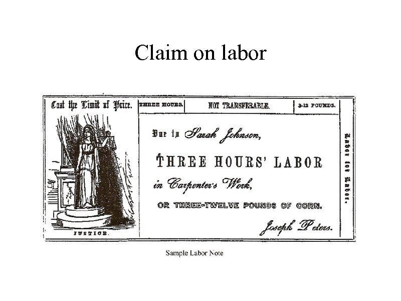 Claim on labor