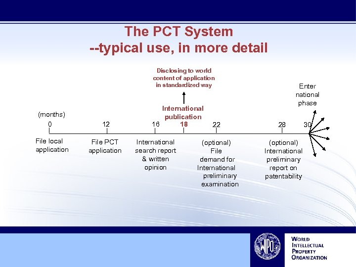 The PCT System --typical use, in more detail Disclosing to world content of application