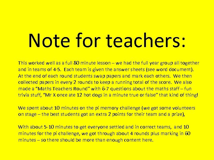 Note for teachers: This worked well as a full 80 minute lesson – we