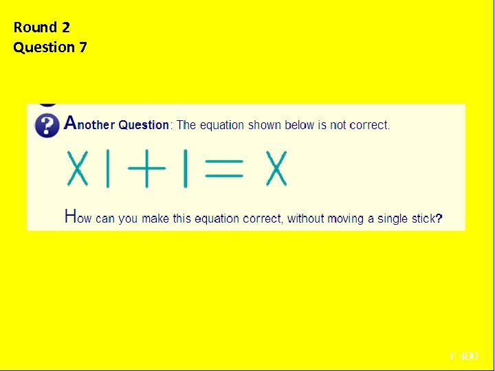 Round 2 Question 7 Using only the arithmetic symbols and 2, 5, 6, 9,