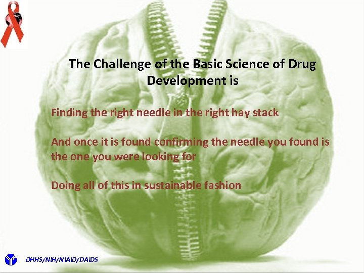 The Challenge of the Basic Science of Drug Development is Finding the right needle