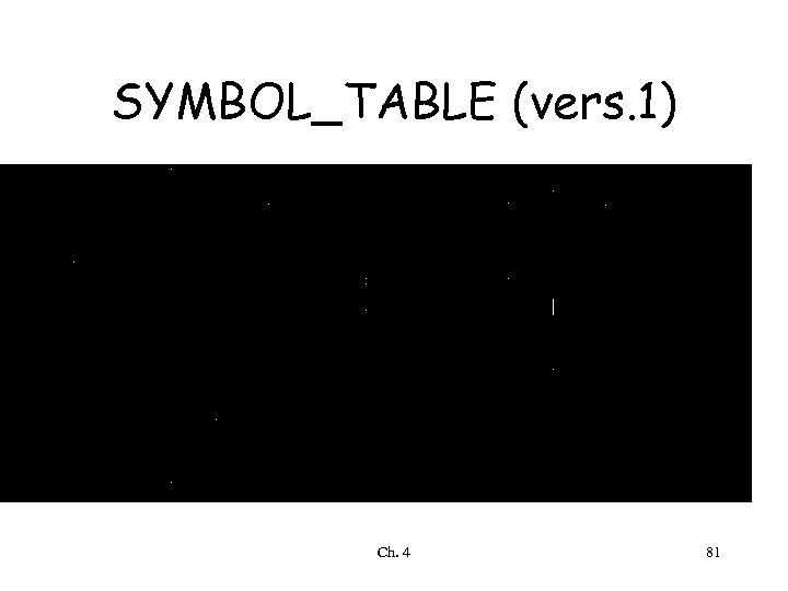 SYMBOL_TABLE (vers. 1) Ch. 4 81