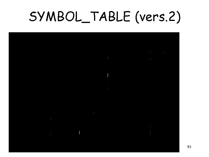 SYMBOL_TABLE (vers. 2) Ch. 4 83