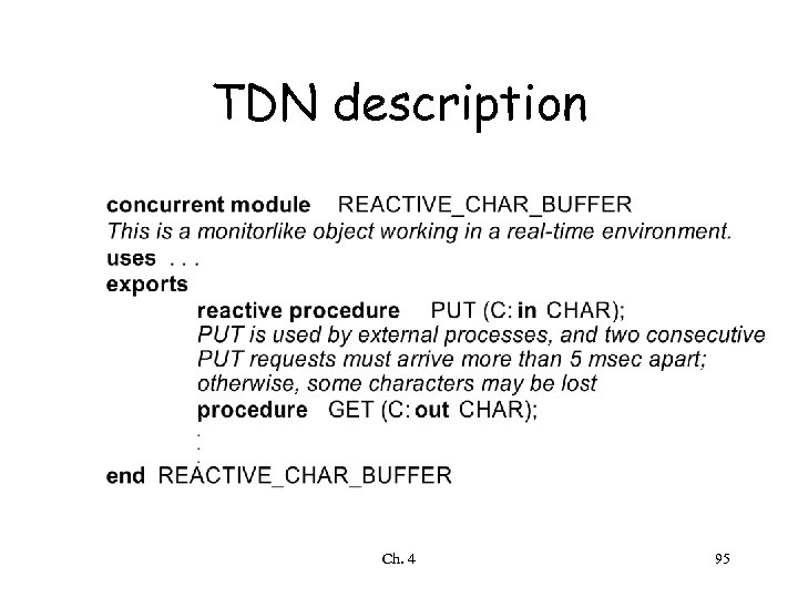 TDN description Ch. 4 95