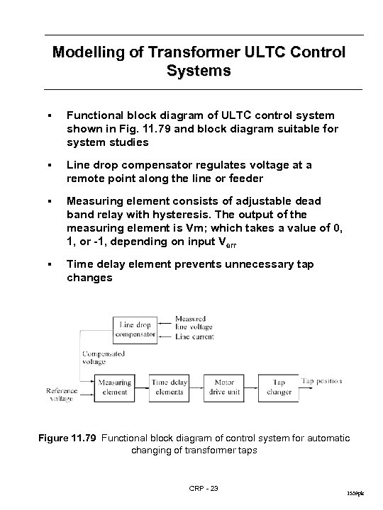 Modelling of Transformer ULTC Control Systems § Functional block diagram of ULTC control system
