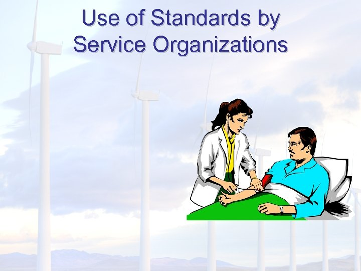 Use of Standards by Service Organizations