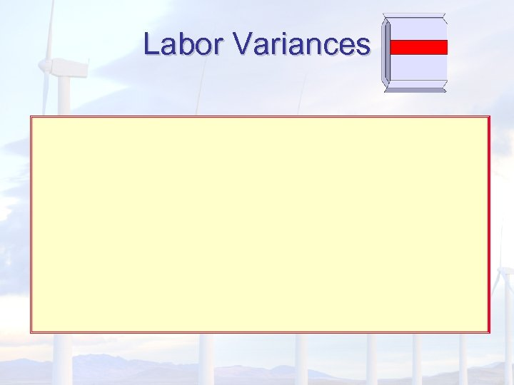 Labor Variances