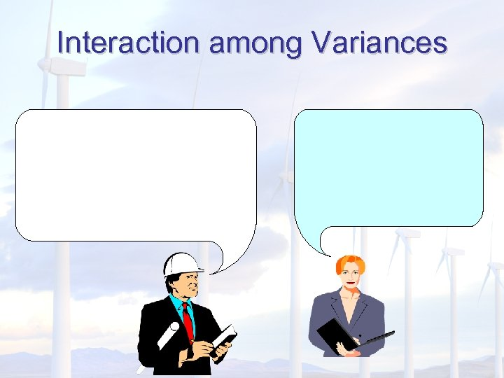 Interaction among Variances