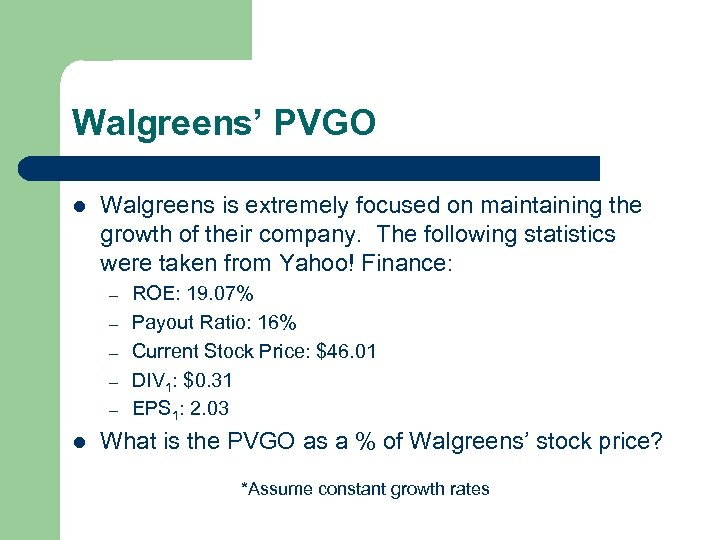 Walgreens' PVGO l Walgreens is extremely focused on maintaining the growth of their company.