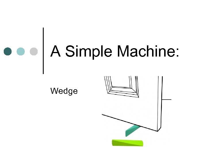A Simple Machine: Wedge