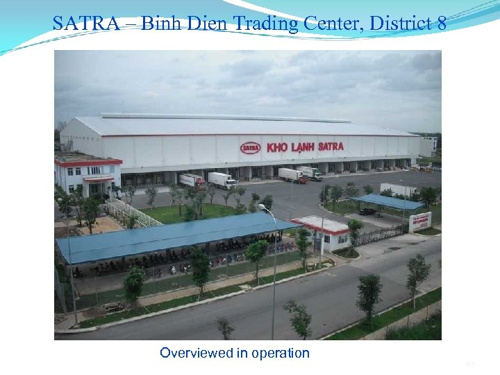 SATRA – Binh Dien Trading Center, District 8 Overviewed in operation 115