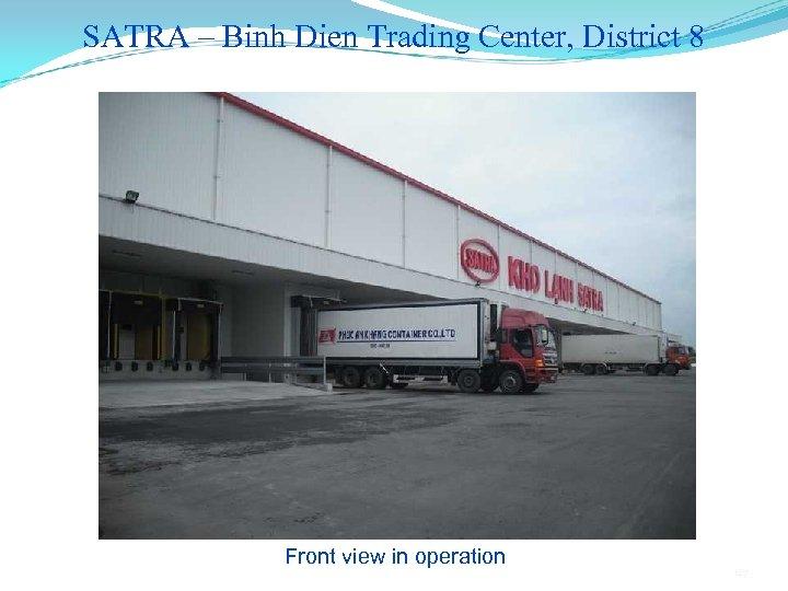 SATRA – Binh Dien Trading Center, District 8 Front view in operation 117