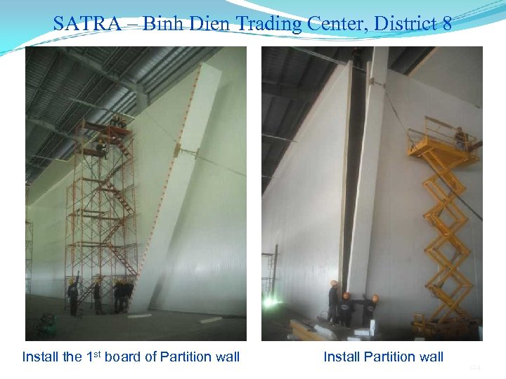 SATRA – Binh Dien Trading Center, District 8 Install the 1 st board of