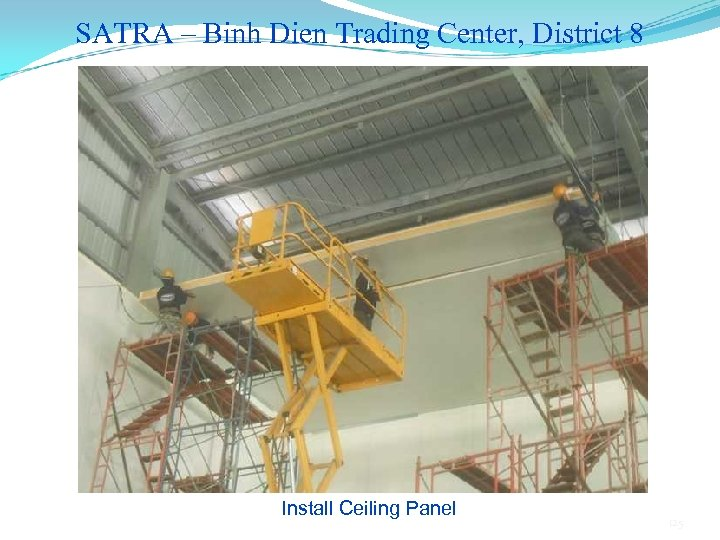 SATRA – Binh Dien Trading Center, District 8 Install Ceiling Panel 125