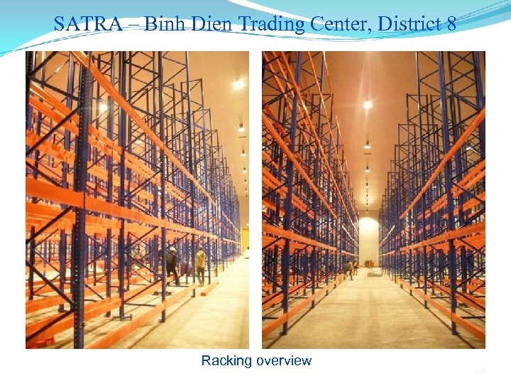 SATRA – Binh Dien Trading Center, District 8 Racking overview 128