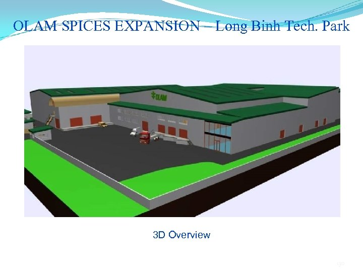 OLAM SPICES EXPANSION – Long Binh Tech. Park 3 D Overview 130