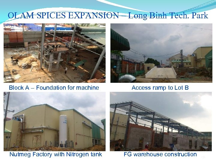OLAM SPICES EXPANSION – Long Binh Tech. Park Block A – Foundation for machine
