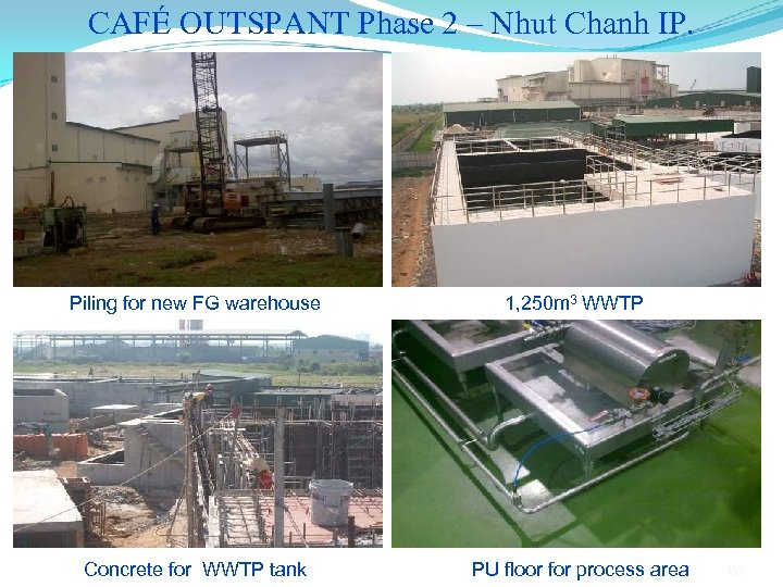 CAFÉ OUTSPANT Phase 2 – Nhut Chanh IP. Piling for new FG warehouse Concrete