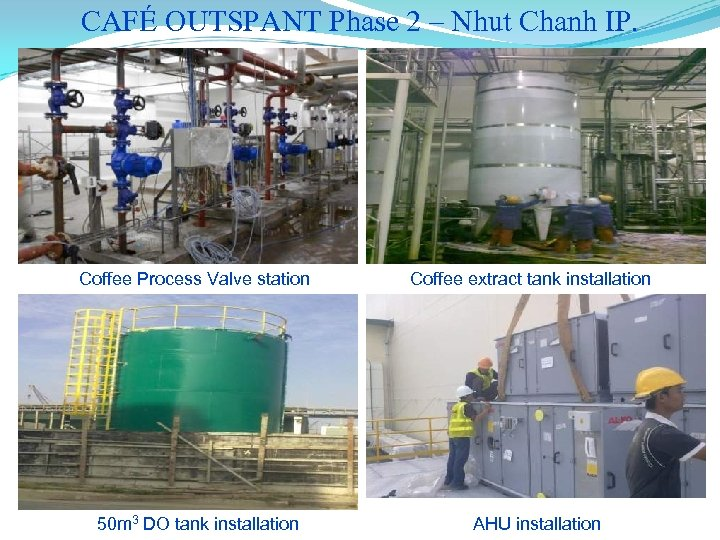 CAFÉ OUTSPANT Phase 2 – Nhut Chanh IP. Coffee Process Valve station 50 m