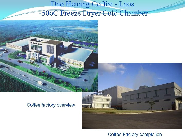 Dao Heuang Coffee - Laos -50 o. C Freeze Dryer Cold Chamber Coffee factory