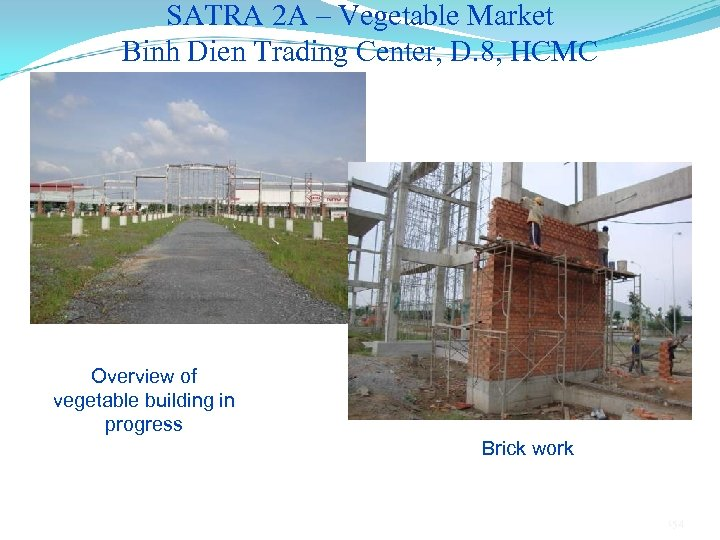 SATRA 2 A – Vegetable Market Binh Dien Trading Center, D. 8, HCMC Overview