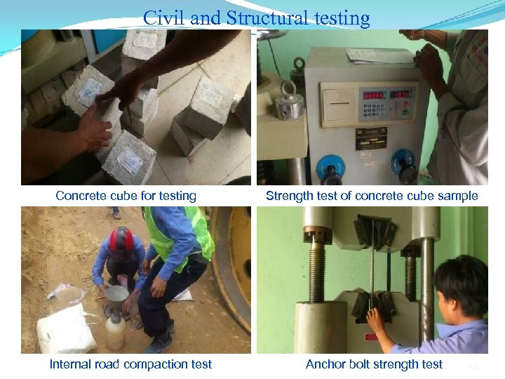 Civil and Structural testing Concrete cube for testing Internal road compaction test Strength test