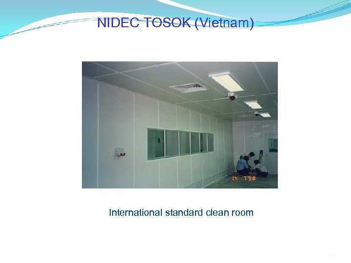 NIDEC TOSOK (Vietnam) International standard clean room 22