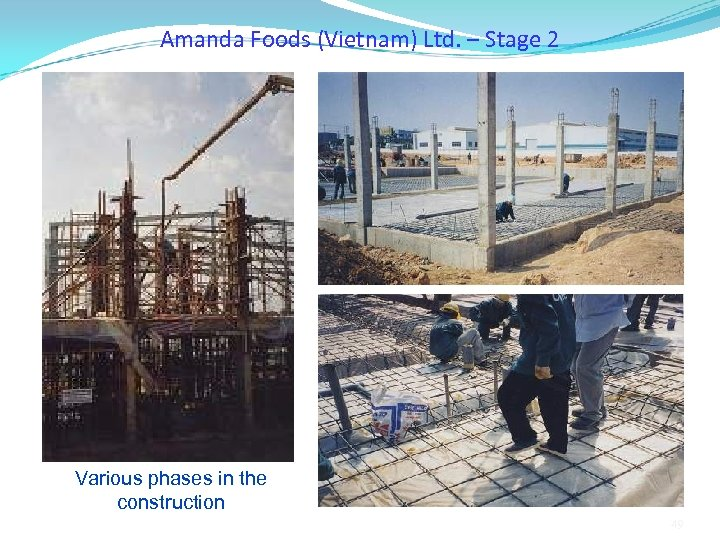 Amanda Foods (Vietnam) Ltd. – Stage 2 Various phases in the construction 49