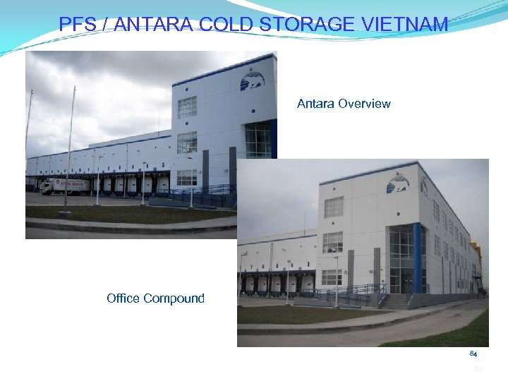 PFS / ANTARA COLD STORAGE VIETNAM Antara Overview Office Compound 84 84