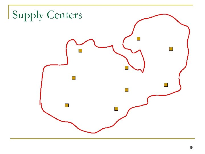 Supply Centers 49