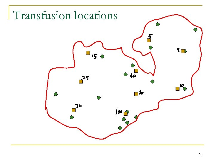 Transfusion locations 51