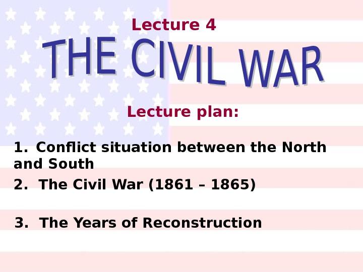 the origins of the civil war conflict
