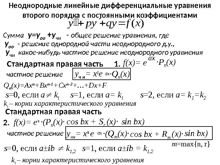 Решение линейных дифференциальных уравнений онлайн