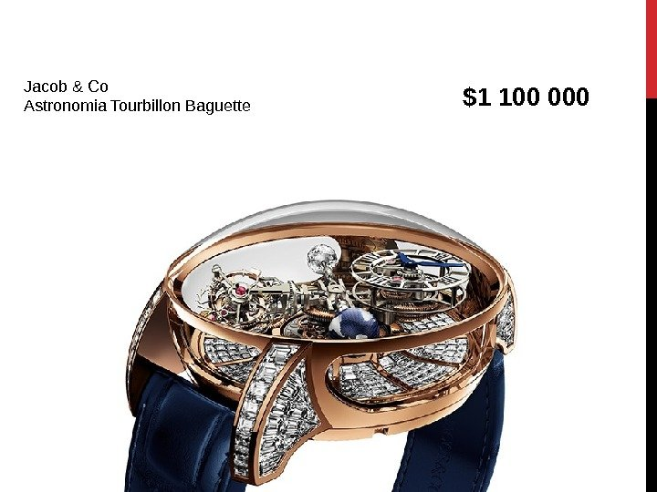 Jacob & Co Astronomia Tourbillon Baguette $1 100 000
