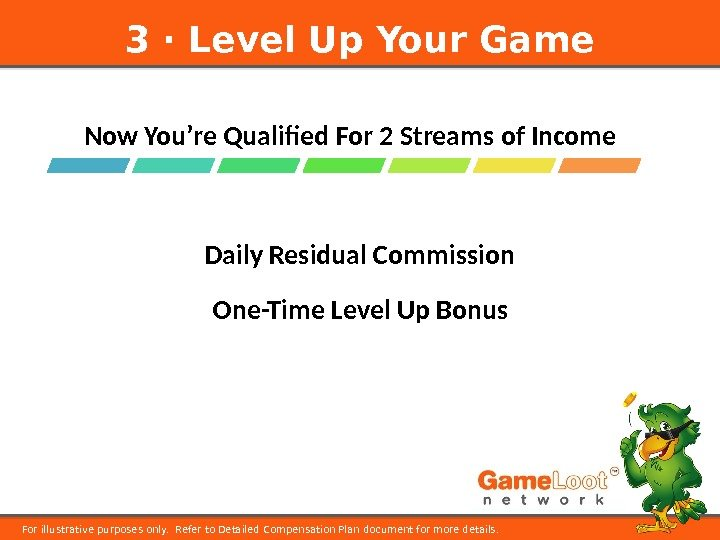 Now You're Qualified For 2 Streams of Income 3 ⋅ Level Up Your Game For illustrative