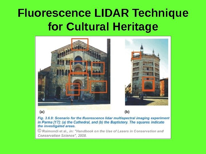 Fluorescence LIDAR Technique for Cultural Heritage