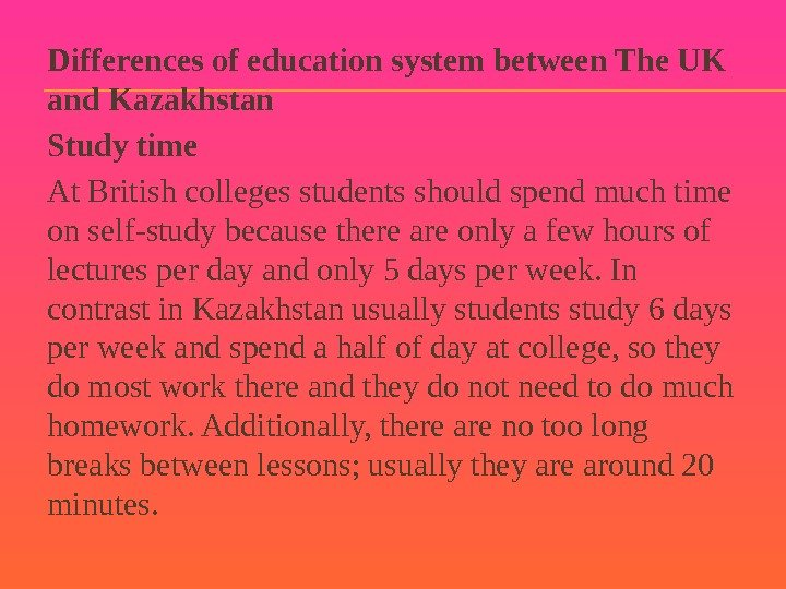 compare and contrast between educational system in malaysia and uk The following is a simple flowchart comparison of singapore's and american education systems based on the entry age of the students at each educational system.