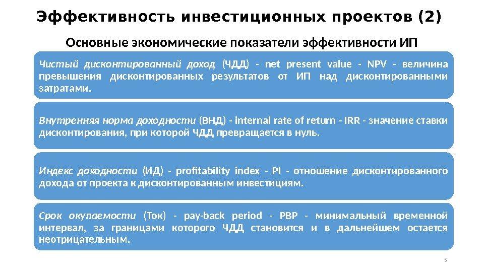 это уже показатели эффективности инвестиционных проектов реферат Приморского