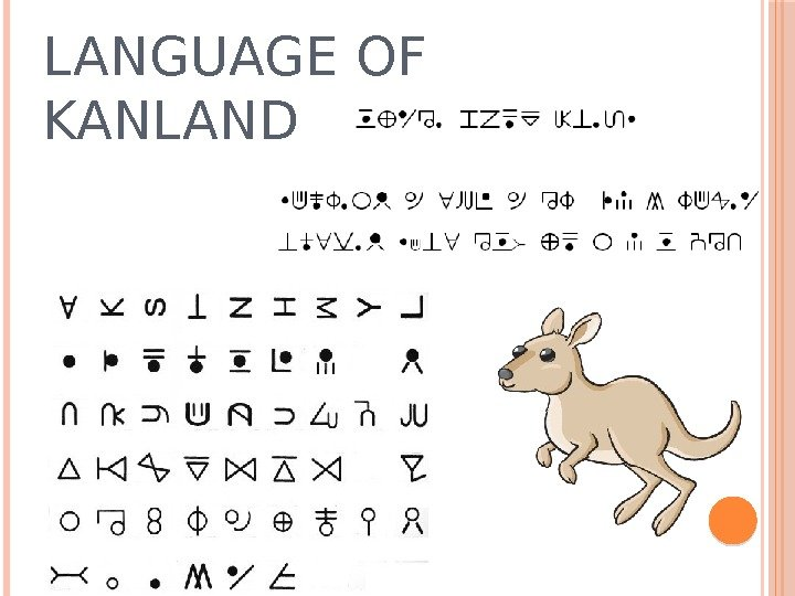 LANGUAGE OF KANLAND