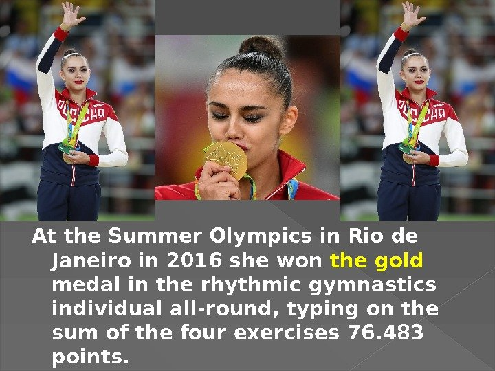 At the Summer Olympics in Rio de Janeiro in 2016 she won the gold medal in