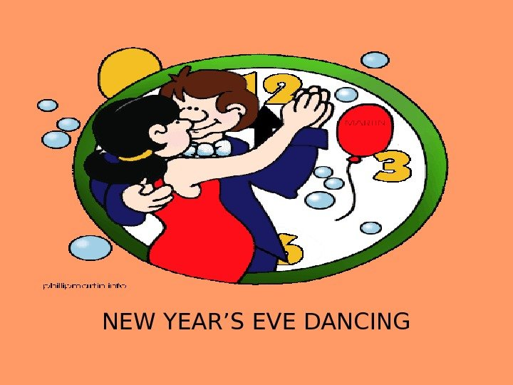NEW YEAR'S EVE DANCING