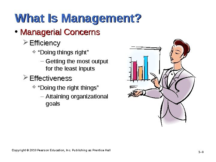Copyright © 2010 Pearson Education, Inc. Publishing as Prentice Hall 1– 9 What Is Management?