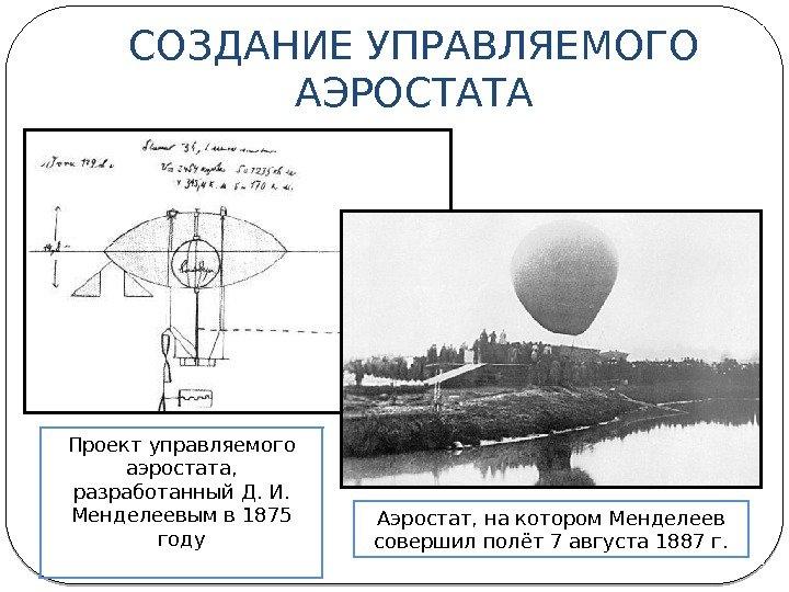Полет менделеева на воздушном шаре картинка
