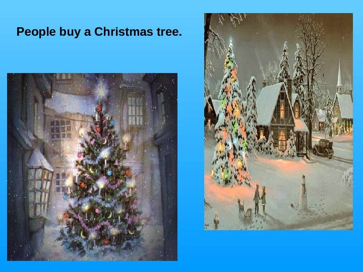 People buy a Christmas tree.