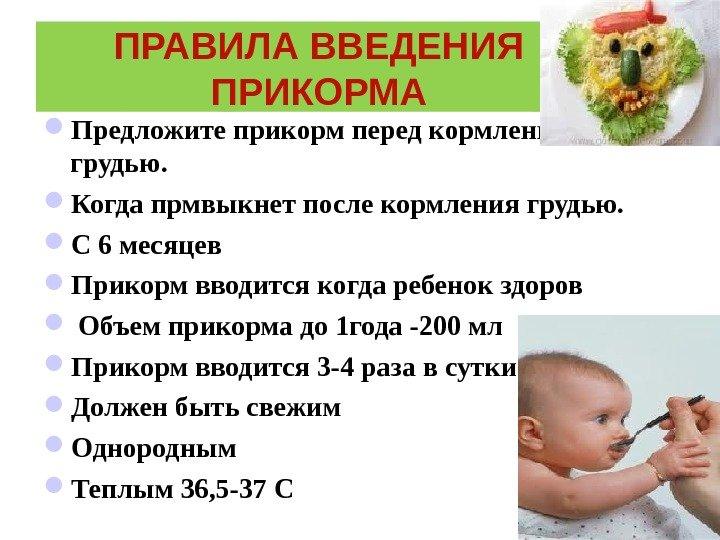 Одного грудного молока малышу уже мало, ему необходимо получать витамины и все необходимые для здорового развития полезные вещества, которыми богата пища взрослых людей.