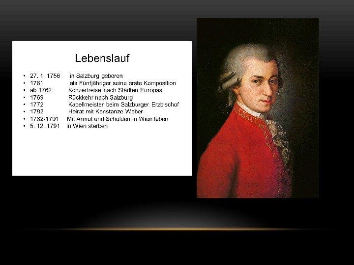 Steckbrief Wolfgang Amadeus Mozart 15