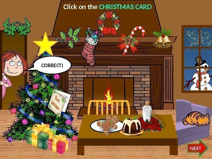 Click on the CHRISTMAS CARD NEXTCORRECT!   07